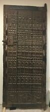 """Large Dogon Door 84"""" with Kanaga Masks and Agricultural Scene Mali African Art"""