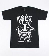 d8b0b405f OBEY Men's T-shirt to Hell and Back Black Size S Shepard Fairey Demon