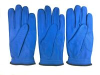 ***New***  (3) Mens All Cabretta Blue Leather Golf Gloves (Left Hand)