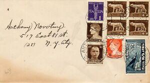 POSTA AEREA - Lettera da S.ANTIACO (CA) per NEW YORC (USA) 1944.