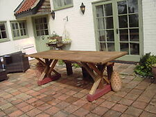 New Solid wood rustic garden /patio/ refectory table, delivered Norwich area.