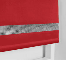 Made to measure RED Roller Blind with Metal Tube and Child Safety