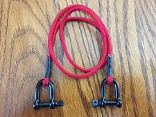 NEW ITEM Scale RC Crawler Tow Strap Accessory BLACK 5mm Shackle'sAxialSCX10(RED)
