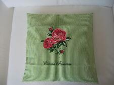 Kissenhülle Garten Landhaus*Blumen*Impressionen* 40x40cm Streifen Blüten Shabby