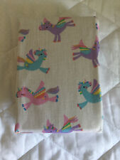 George White Unicorn Print Easy Care Fitted Sheet - Toddler Bed