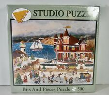 NEW--BITS AND PIECES JIGSAW PUZZLE MEMORIES OF CHRISTMAS CINDY MANGUTZ 500 PC