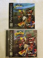 Crash Bandicoot Warped PlayStation 1 PS1 Holographic Cover Black Label Complete