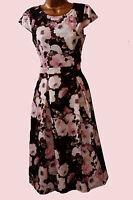 NEW EX DOROTHY PERKINS 50s BLACK PINK CREAM IVORY TEA DRESS  8 10 12 14 16 18 20