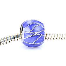 Fine Paint sapphire Bling Spacer Bead Fit European Charm Bracelet