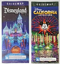 Disneyland DCA Holiday Season 2019 Guide Map Set Magic Castle World of Color