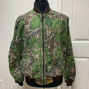 VTG MOSSY OAK REVERSIBLE Jacket Large Full & Fall Foliage Camo  Hunting Turkey L