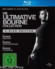 DIE ULTIMATIVE BOURNE COLLECTION (Matt Damon) 3 Blu-ray Discs NEU+OVP