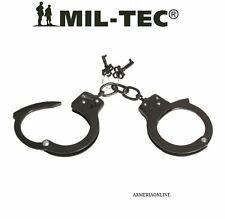 MANETTE in Acciaio PROFESSIONALI vere militari polizia carabinieri con chiave