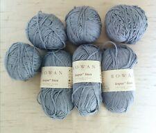 Rowan Lenpur Linen Yarn Wool 574 Cloud Blue 7 x 50g Some a small amount used