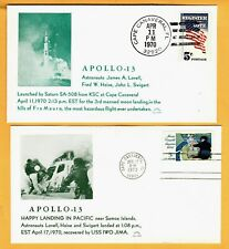 Apollo 13 set 2  (Launch  & Splashdown) Astro covers