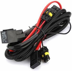 HID Relay Battery Harness Headlight Anti-Flicker Wiring Upgrade Kit 9005 9006