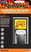 BLUE MAGIC THERMOSTEEL REPAIR KIT High Temperature Exhaust Metal Dark Gray 2 oz