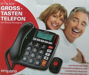 Emporia KFT19-SOS Senioren Festnetz-Telefon Analog schnur gebunden Notruf Sender