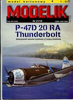 ORIGINAL PAPER-CARD MODEL KIT-P47D 20RA THUNDERBOLT