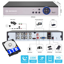 1080N 8CH 5in1 Motion Email P2P DVR 1500TVL CCTV Security Video Recorder 1TB HDD