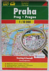 Foldout Map of Prague • Freytag & Berndt • 2010 • Used
