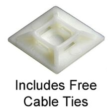 Auto Adhesivo Cable Tie bases 19 Mm x 19 mm natural Incluye Gratis Bridas X 25