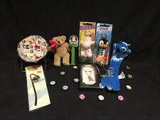 Junk Drawer Lot Toys Pez Small Bear Book Marks Magnets Little Chair