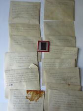 lot of Dorothea Dix Lawrence glass negatives of 1800's Christmas cards vintage