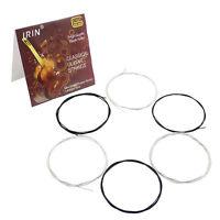 1Set of 6 Guitar Strings IRIN C10 Black Nylon Fiber String For Classical Guitar~