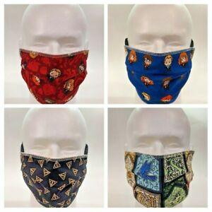 Washable Fabric Face Mask 3 Layer - Women's & Men's - Reversible! HARRY POTTER