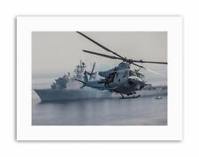 WAR AIR FORCE HELICOPTER CHOPPER UH1N HUEY USS RUSHMORE Military Canvas art