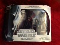 Star Wars Trilogy Action Figure Set Darth Vader Emperor Palpatine Stormtrooper