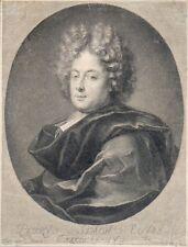 """Burin de TROUVAIN """"Portrait de Petrus Simon"""" d'après TORTEBAT"""