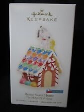 HALLMARK ORNAMENT HOME SWEET HOME PEANUTS GANG SNOOPY ON GINGERBREAD DOGHOUSE