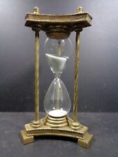 More details for vintage sand timer approx. 40 minutes gold colour shabby chic rustic look