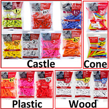 MASTERS Golf Tees Tee - Castle,Straight,Cone,Plastic,Wood -IDEAL STOCKING FILLER