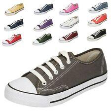 Mens Spot On Canvas Lace Shoes