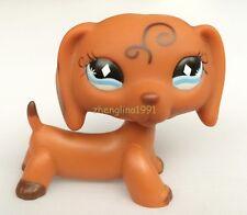 LPS #640 RARE Littlest Pet Shop Brown Dachshund Dog Puppy Diamond Eyes Animal