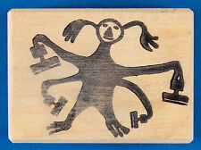 Funny Rubber Stamping Monster Stamp by Toomuchfun - Stampaholic, Stamp Addict