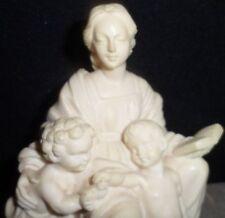 Madonna Child Statue Carved Figurine Christianity Soap Stone Mary Del Cardellino