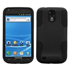 Mesh Hybrid Case for Samsung Galaxy S2 T989 (T-Mobile) - Black/Black
