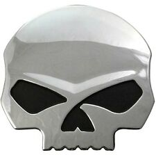 Harley-Davidson® 3-D Willie G Skull Chrome Decal Sticker (4x3.875x.25) DC1199062