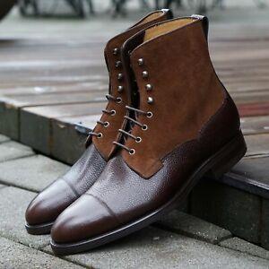 Carlos Santos Style 9156 Field Boot - Grain 100 Marron / Camurca 190 (Suede)