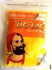 4 x Resealable Bags of ZIG ZAG REGULAR Cigarette 7mm Chunky Smokers FILTER TIPS