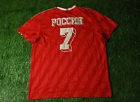 ADIDAS RUSSIA # 7 VINTAGE STYLE ORIGINAL CASUAL SHIRT T-SHIRT TEE JERSEY SIZE XL