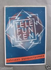 1930s Bulgaria Advertisement Prospectus Radios TELEFUNKEN