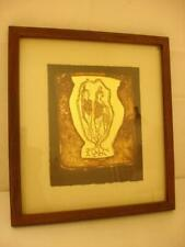 Charles Loloma Corn Mothers Art Lithograph on Gold Foil 15/50 Signed Framed RARE