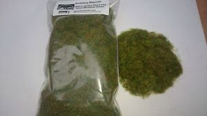 Static Grass 6mm Bulk Bag 50g - Meadow Green - Grass Flock First Class P&P
