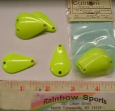 """10 - 1 3/8"""" K style Casting Spoon Blanks (approx)-5/16oz (.275oz) Chartreuse"""