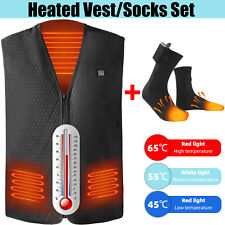 Heated Vest/Socks Warm Winter Electric USB Charging Jacket Heating Coat Top
